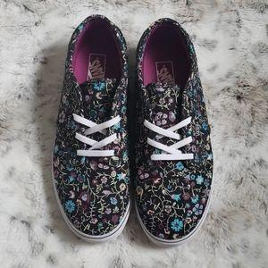 Vans Floral Print Sneakers - Size 5